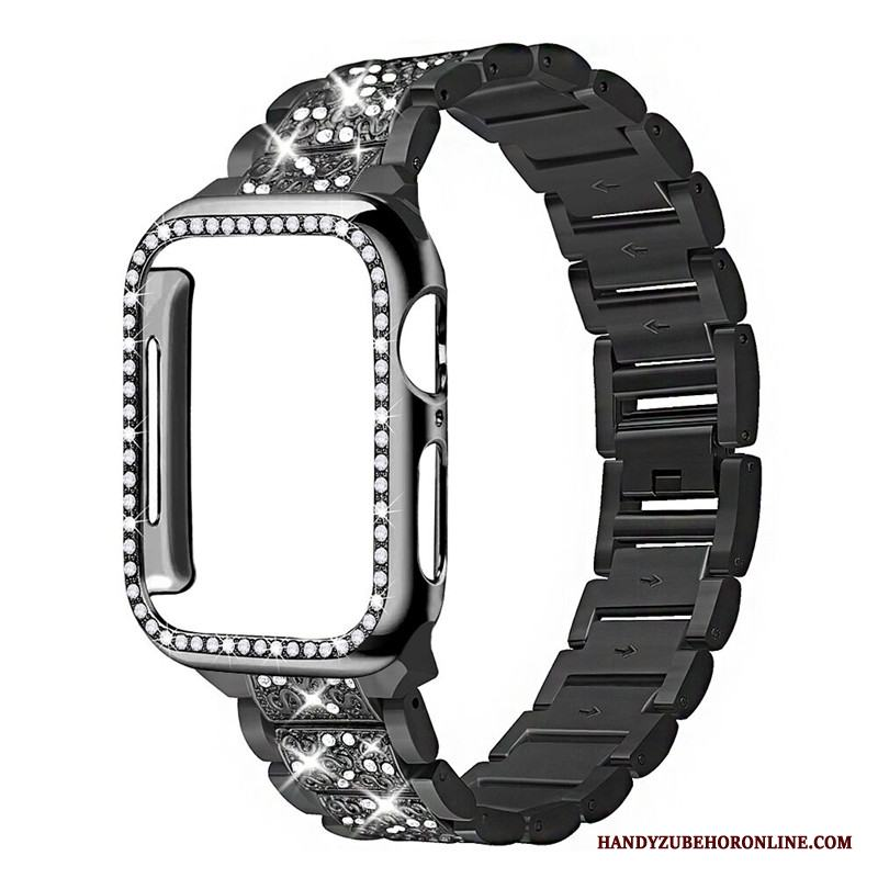 Apple Watch Series 3 Bra Skal Med Strass Svart