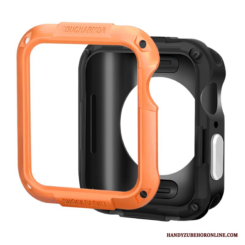 Apple Watch Series 3 Fallskydd Skal Tillbehör Silikon Armor Fodral Orange