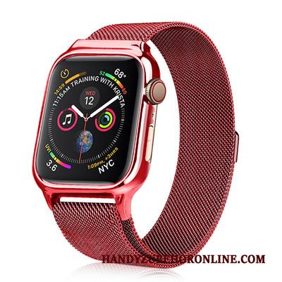 Apple Watch Series 3 Fodral Skal Skydd Metall Ny Röd All Inclusive