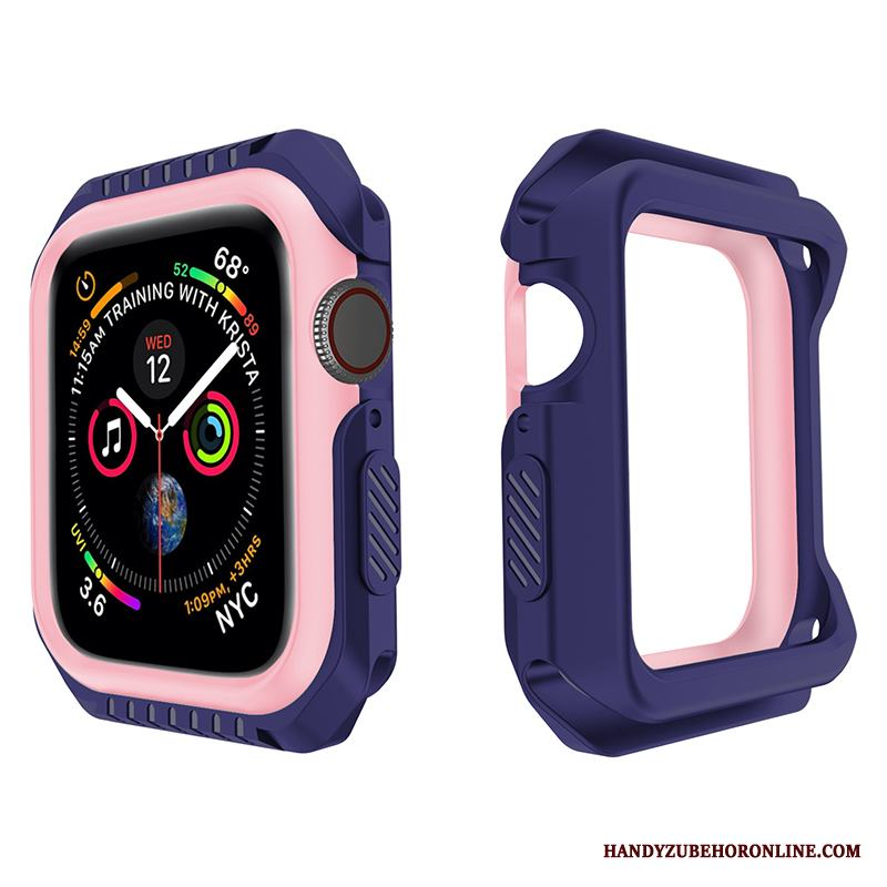 Apple Watch Series 3 Mjuk Fodral Skal Purpur Fallskydd Silikon
