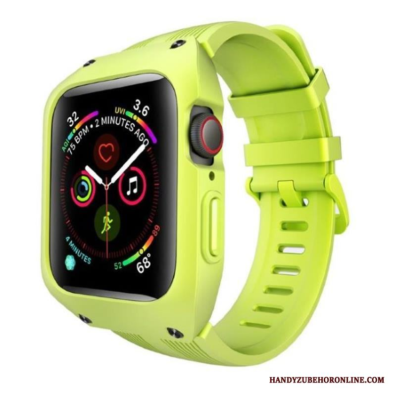 Apple Watch Series 3 Silikon Fallskydd Tre Försvar Grön Skal All Inclusive Sport