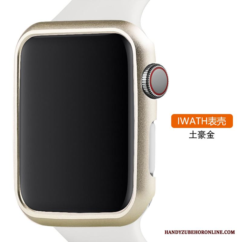 Apple Watch Series 3 Skal Legering Skydd Trend Metall Guld
