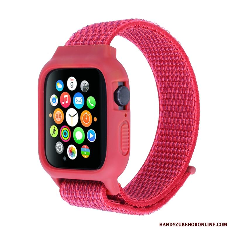 Apple Watch Series 3 Skydd Skal Röd Nylon