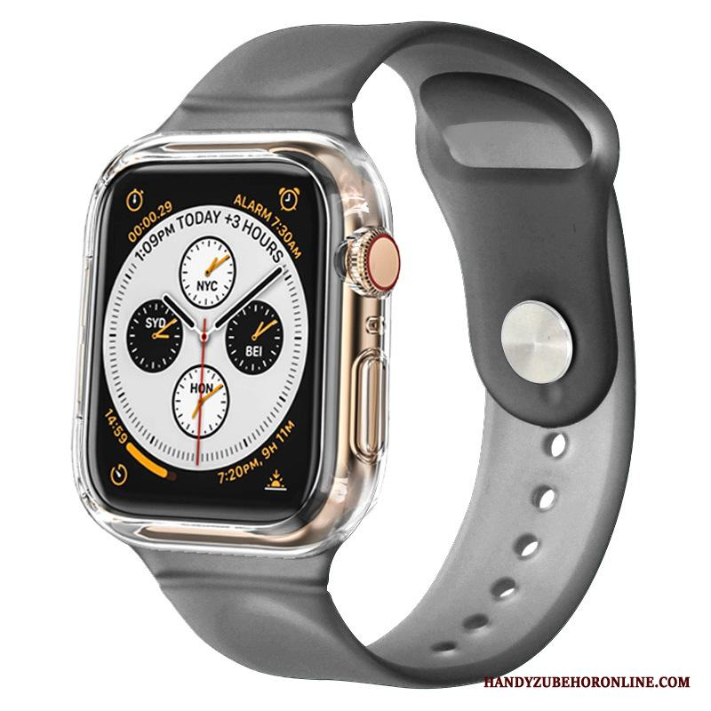 Apple Watch Series 3 Svart Skydd Skal Bicolor Fodral Silikon Sport