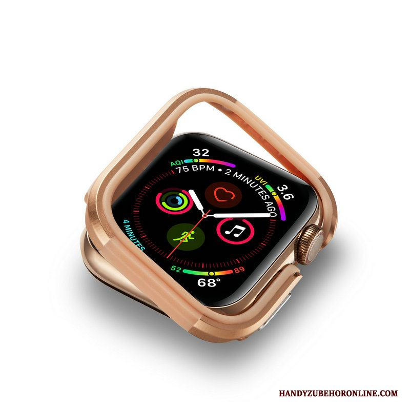 Apple Watch Series 4 Fallskydd Metall Guld Skal Frame