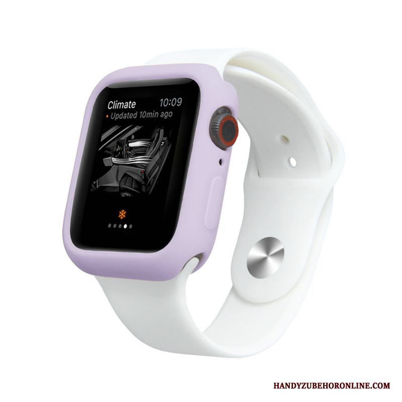 Apple Watch Series 4 Fodral Purpur Skal Candy Färg All Inclusive Skydd Mjuk
