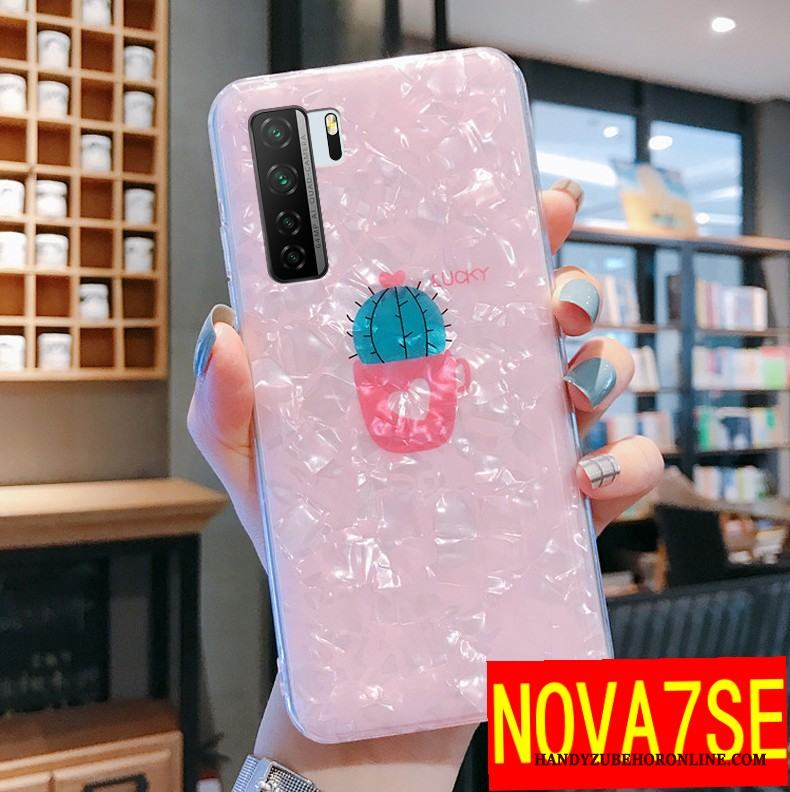 Huawei P40 Lite 5g Rosa Skal Telefon Net Red Ny All Inclusive Fallskydd Vacker