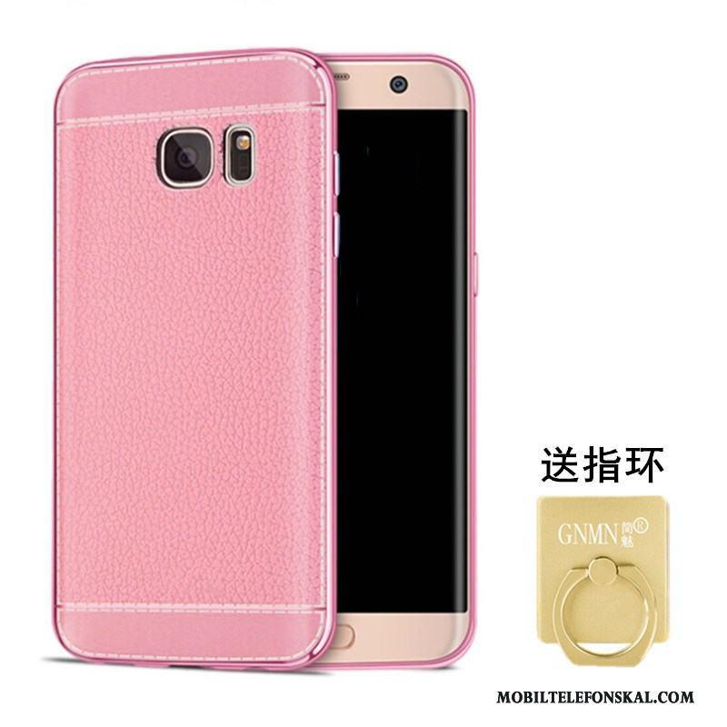 Samsung Galaxy S6 Mobil Telefon Läder Skal Fodral Stjärna Mönster Rosa 94bacd9b0f5c1