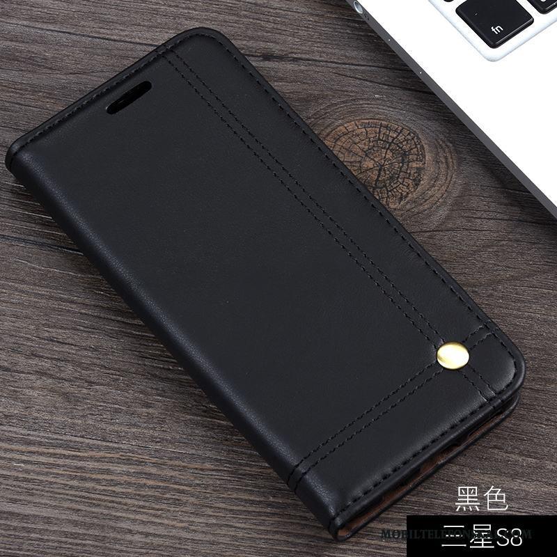 Samsung Galaxy S8 Kort Support Läderfodral Plånbok Stjärna Mobil Telefon  Skal Till Salu c8e797c0f1141