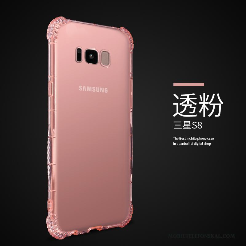 Samsung Galaxy S8 Skydd Transparent Stjärna Fallskydd Silikon All Inclusive  Skal 99dc7aeaa99d5