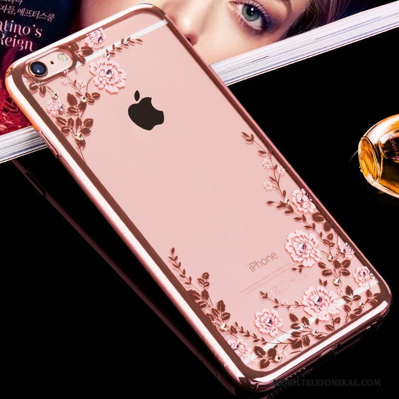 iPhone 6/6s Hård Ny Strass All Inclusive Fodral Transparent Skal Telefon