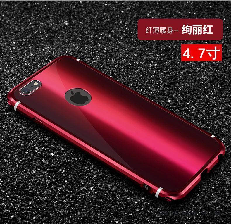 Iphone 66s Plus Skal Metall Ny Trend Röd Lyxiga Fallskydd