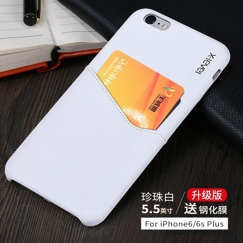 Iphone 6 6s Plus Skal Telefon Fodral Läder Vit Kort Läderfodral Skydd Rea 75283d965d060