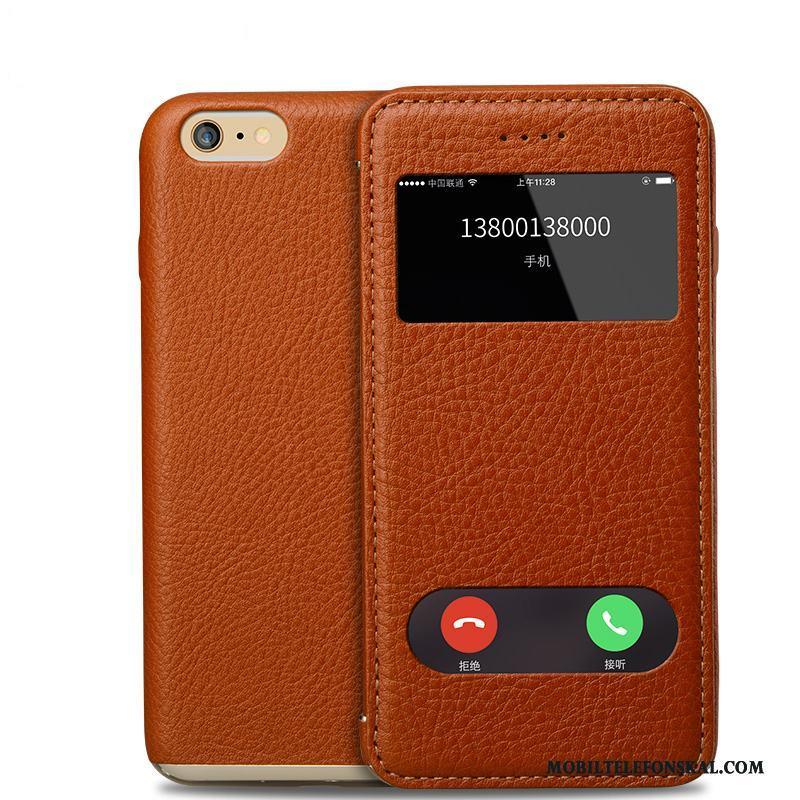 Iphone 6 6s Plus Täcka Fodral Cow Skal Telefon Äkta Läder Mobil Telefon  Billiga 816f70c862f07