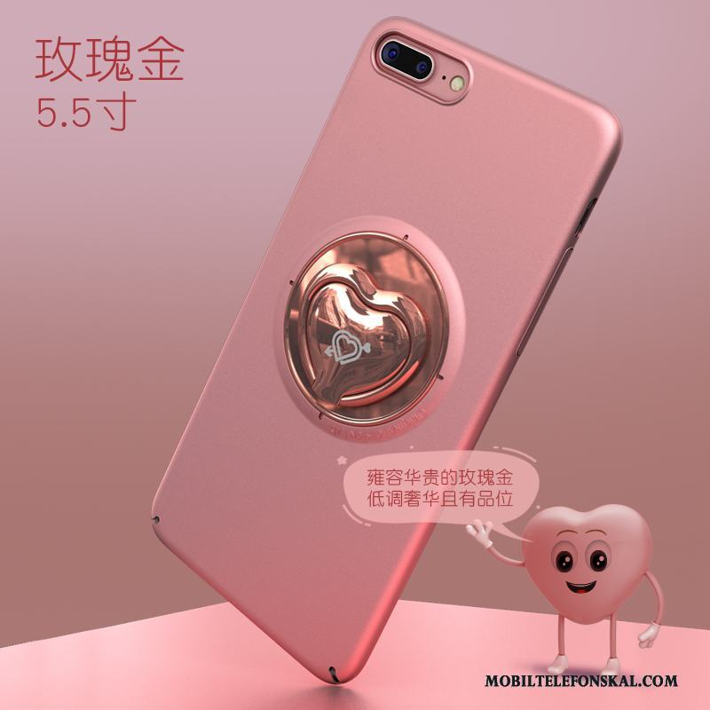 iPhone 8 Plus Support Kreativa Trend Ring Rosa Guld Skal Telefon Pu